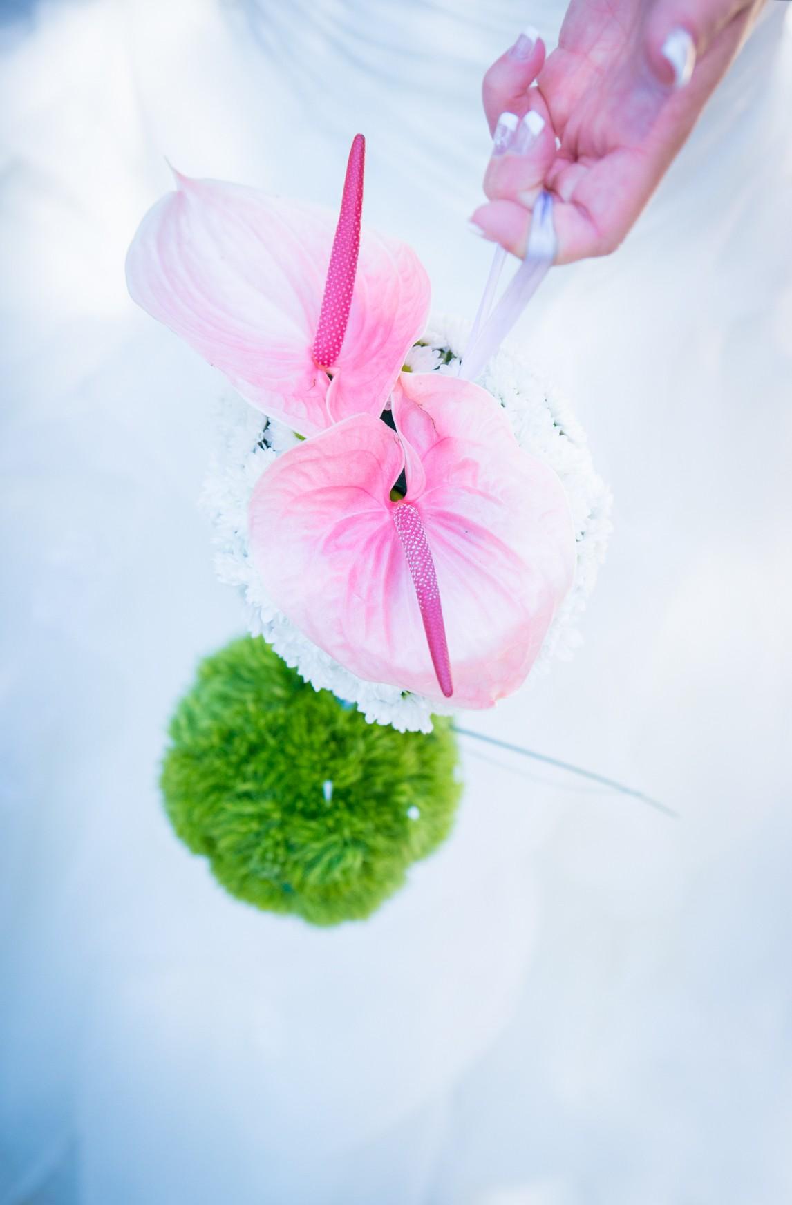 Bouquet de mariée boule