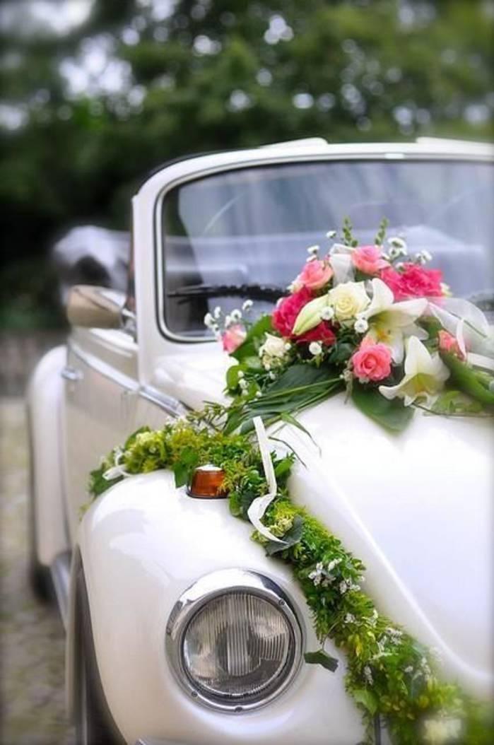 D coration voiture fleurs et d co - Decoration voiture mariage sans fleur ...
