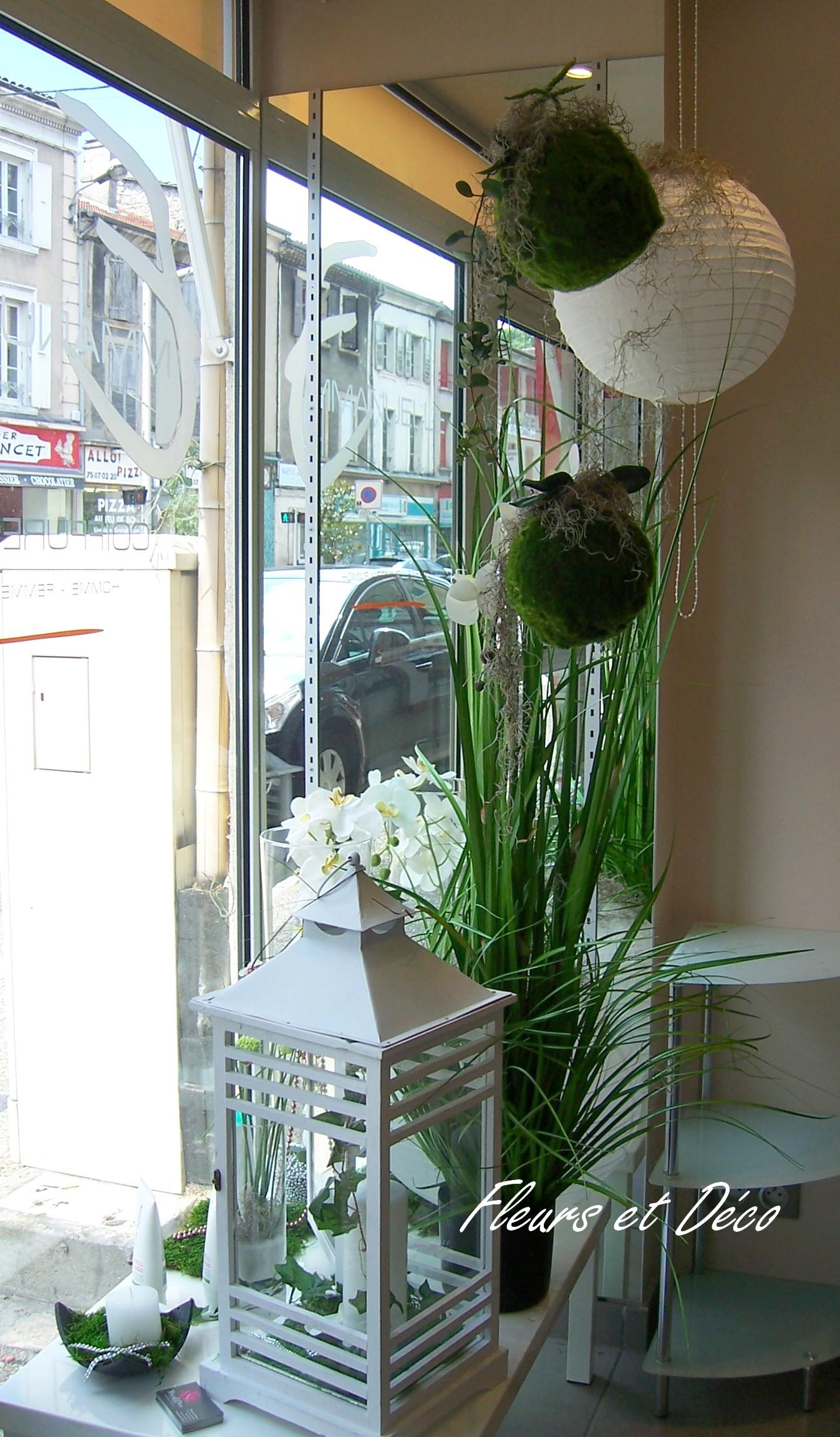 ambiance zen en blanc vert fleurs et d co. Black Bedroom Furniture Sets. Home Design Ideas