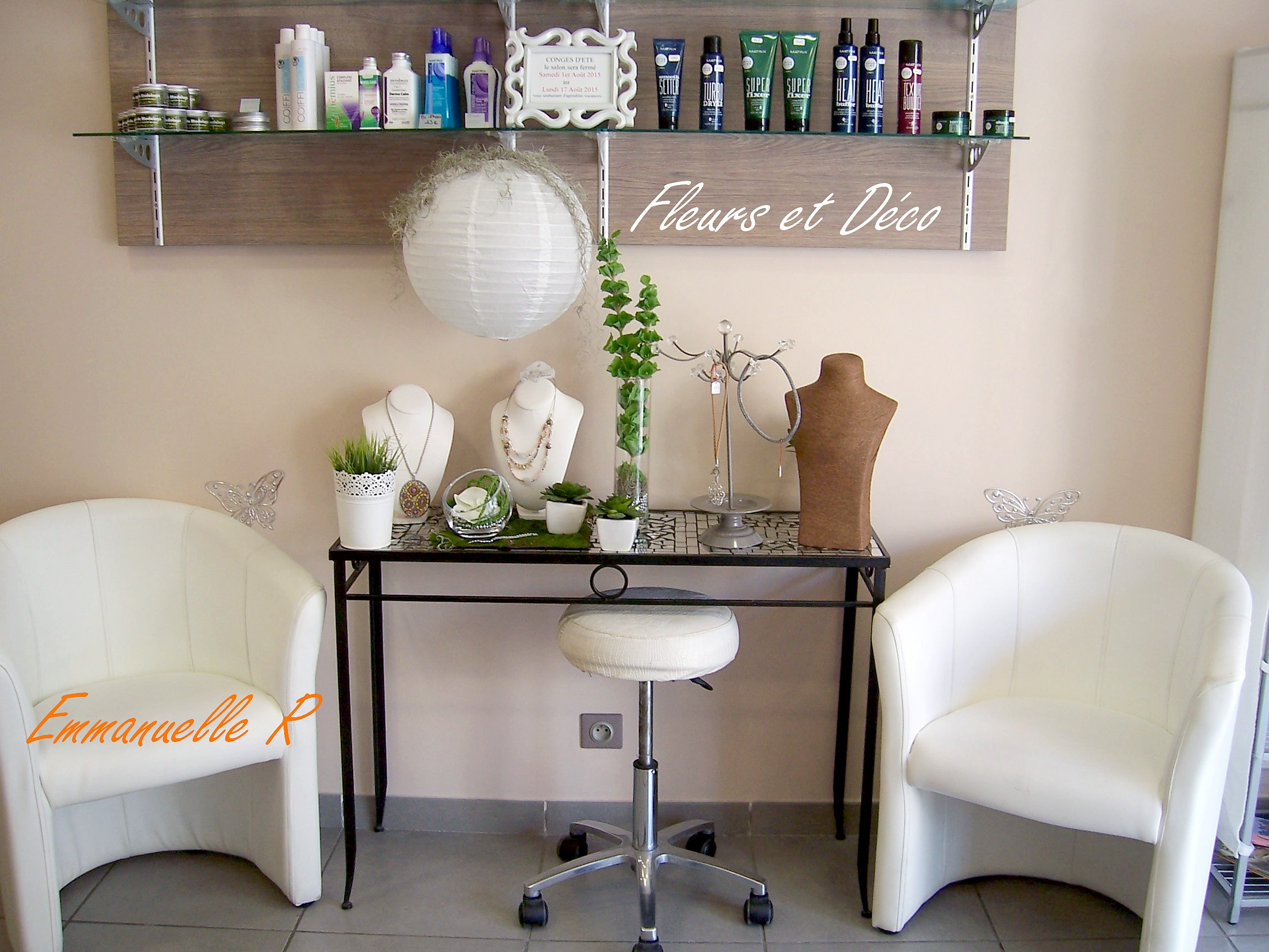Ambiance zen en blanc vert fleurs et d co for Deco zen salon