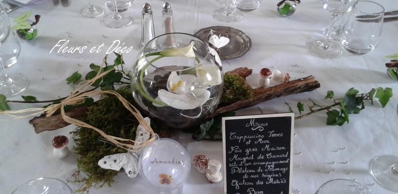 Centre de table archives fleurs et d co for Centre de table mariage bois flotte