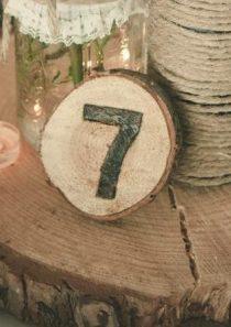 Numéro de table bois en location