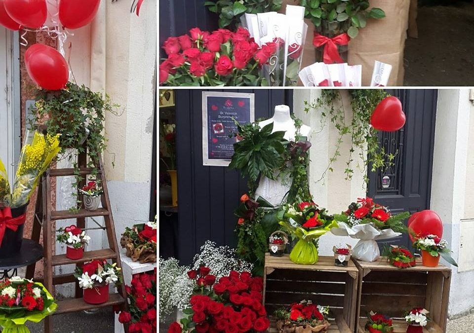St valentin 2017 fleurs et d co for Decoration porte st valentin