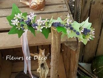 couronne de fleurs lavande