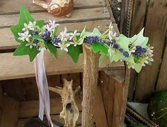couronne de fleurs lavande www.fleursetdéco.fr