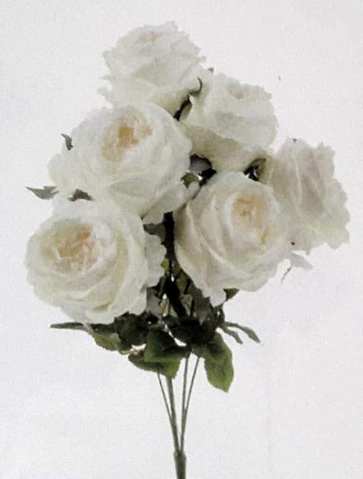 Rose blanche artificielle