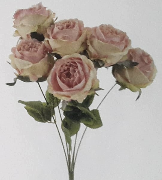 Rose rose artificielle 7 pcs fleurs et d co for Rose artificielle