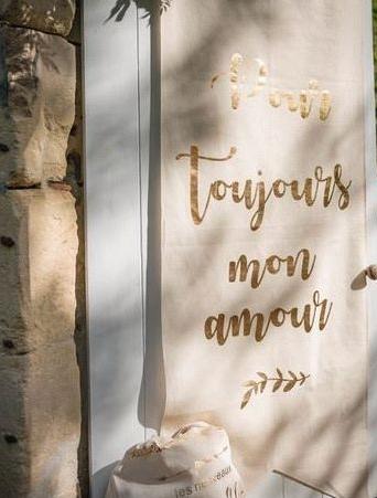 Bannière de mariage en location