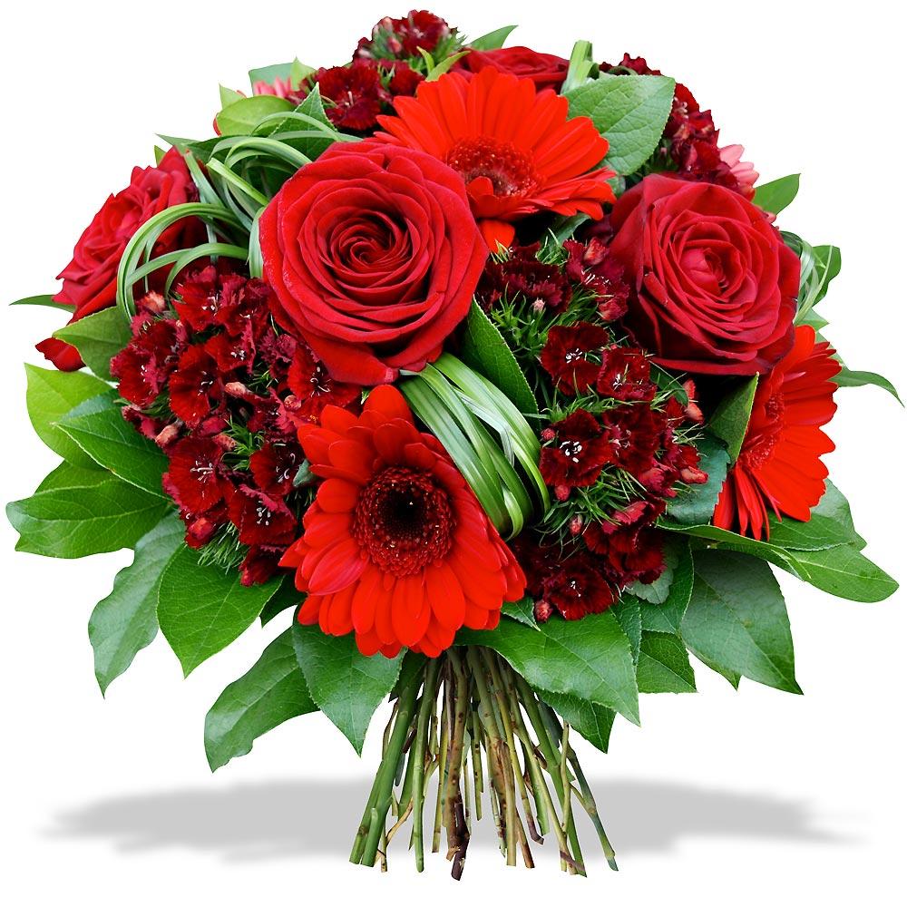 st valentin bouquet rond rouge fleurs et d co. Black Bedroom Furniture Sets. Home Design Ideas
