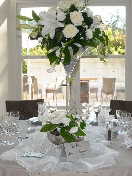 Vase martini fleurs et d co - Coupe en verre sur pied centre de table ...
