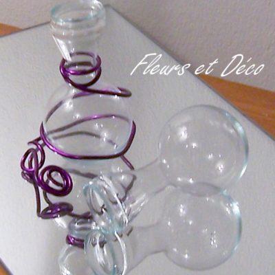 fiole en verre