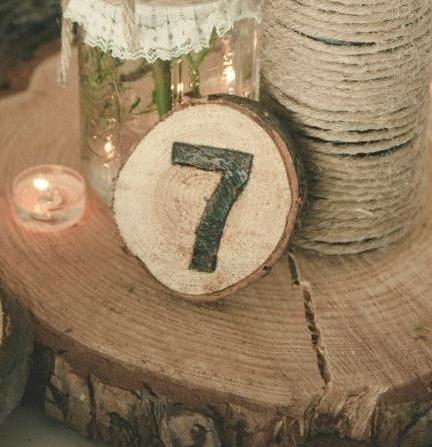 numéro de table bois