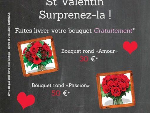 Offre St Valentin: livraison GRATUITE*