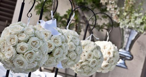 Décoration mariage boule de roses