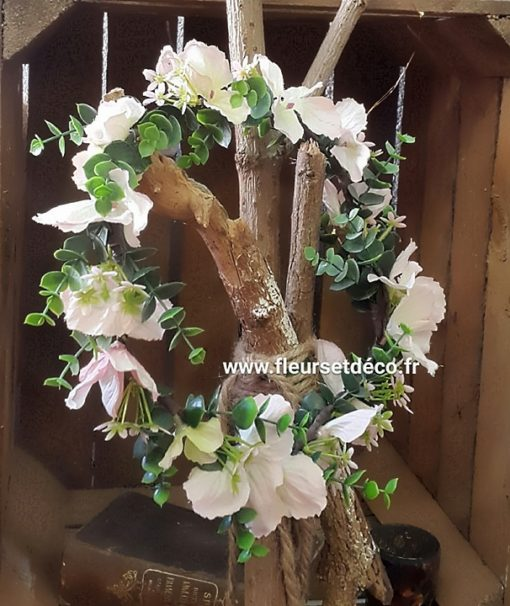 couronne de fleurs www.fleursetdéco.fr