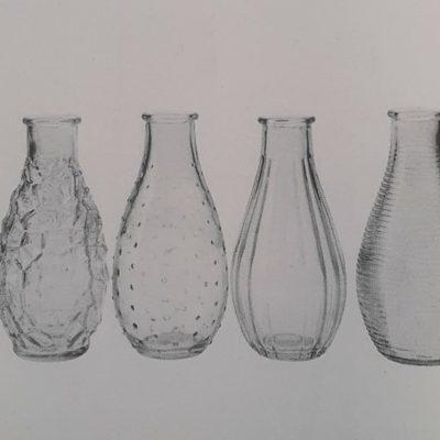 vase en verre vintage www.fleursetdéco.fr