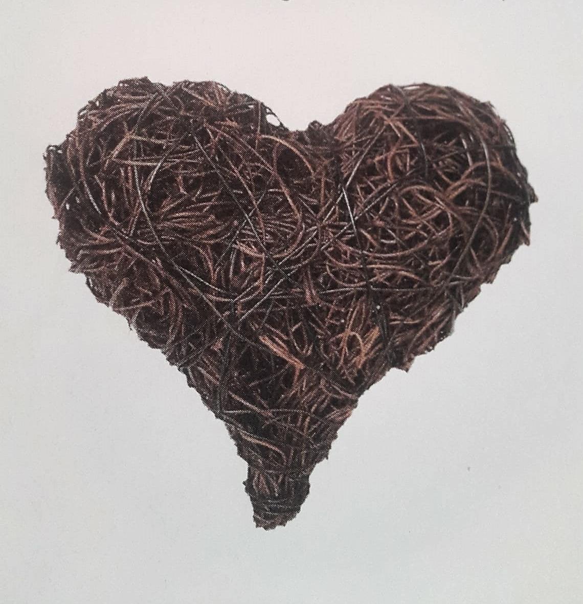 cœur en osier www.fleursetdéco.fr