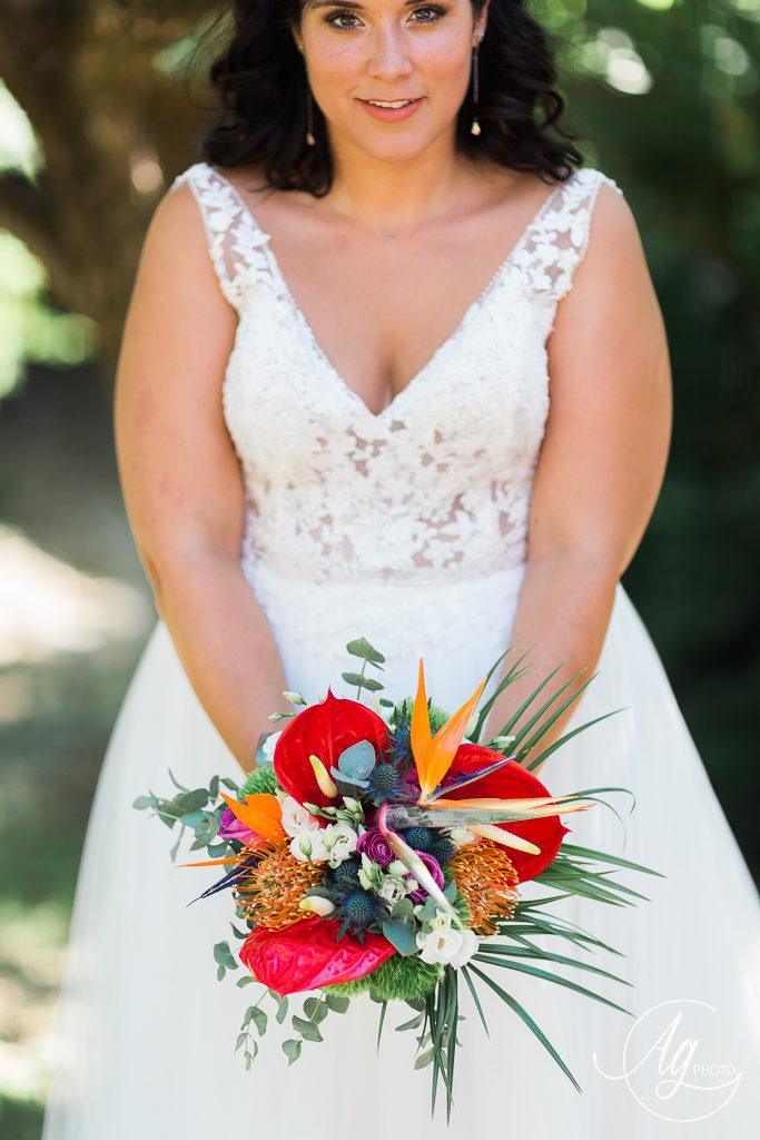 Bouquet de mariée exotique