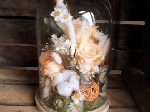 Cloches en fleurs séchées