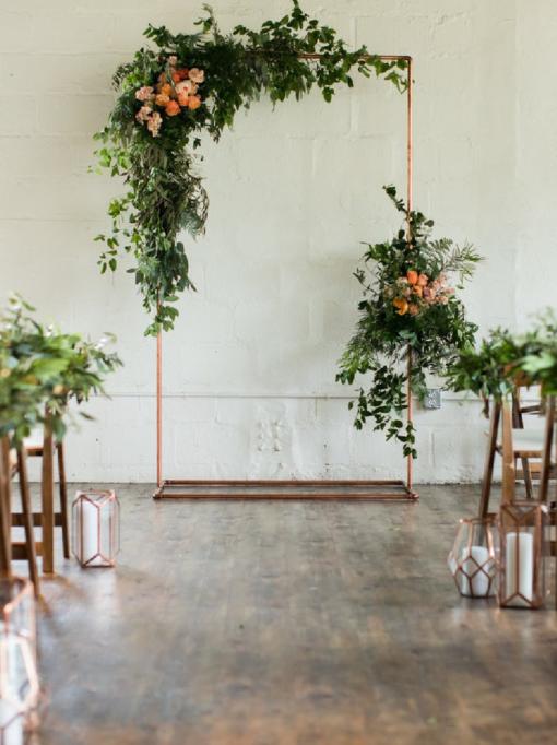 Plan de table mariage en cuivre Drôme